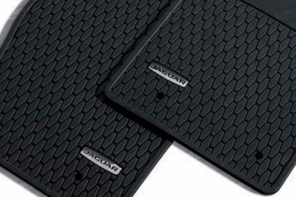 Jaguar F Type Utility Rubber Mat Set - Black - Left Hand Drive
